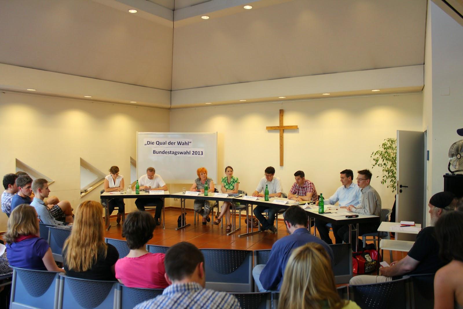 Die Qual der Wahl - Podiumsdiskussion zur Bundestagswahl 2013
