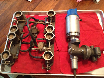Hilborns with rare fuel pump driven from distributor.
