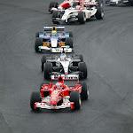 First corners 2004 Brazil F1 GP