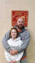 Amelia Mason and her father Scott (her mother Melissa is not pictured) from Shady Spring, WV