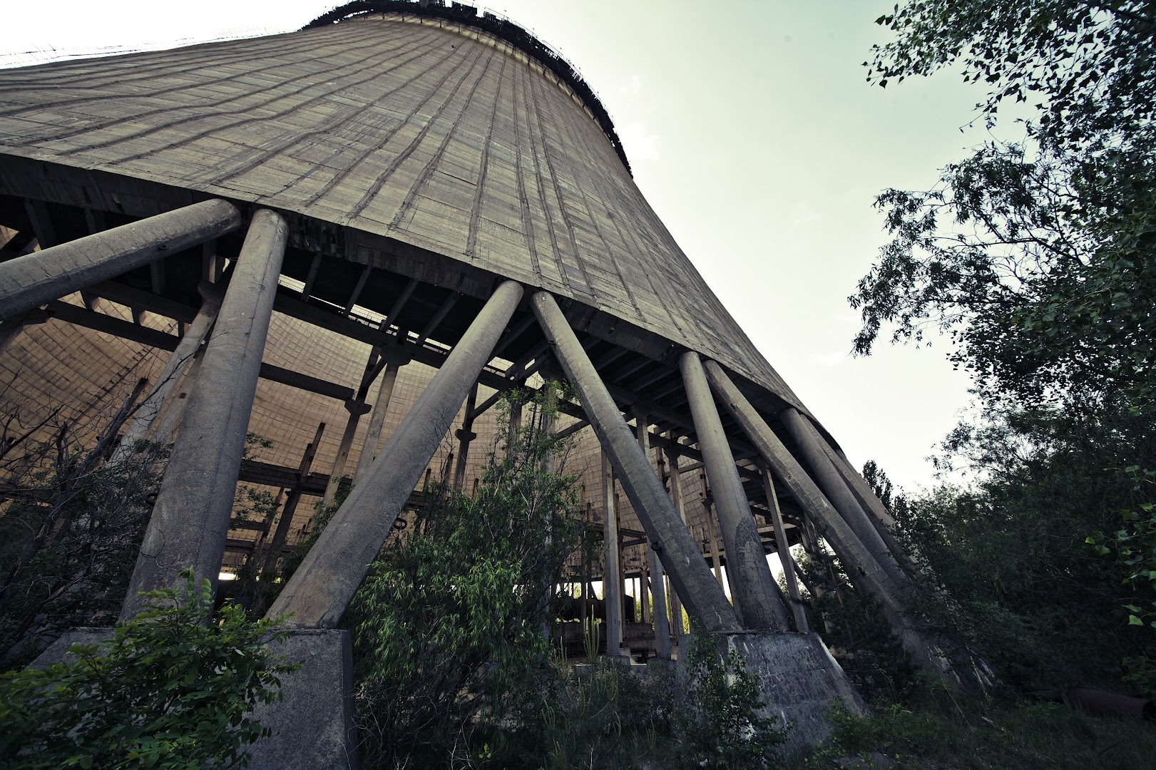 Unfinished cooling tower