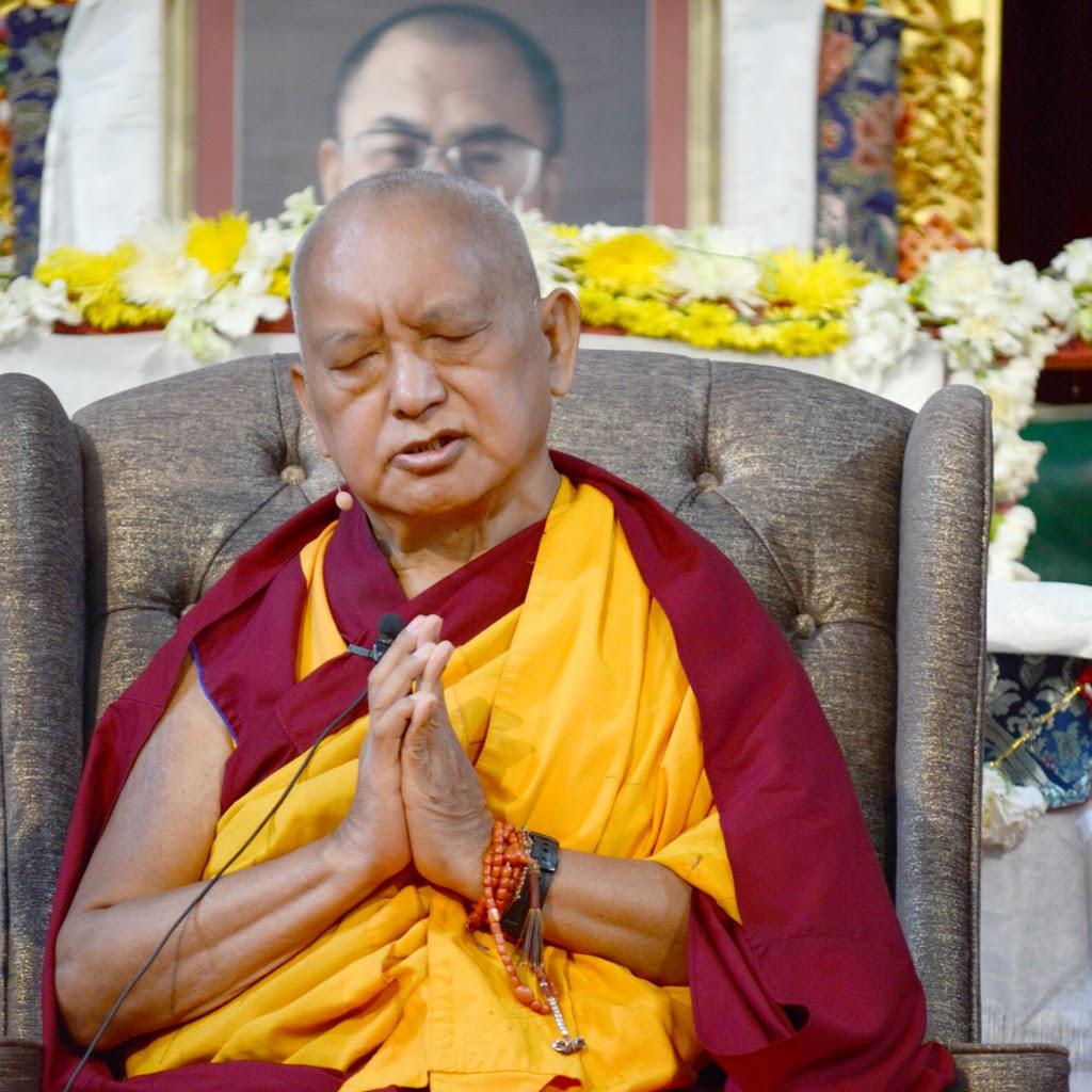 Lama Zopa Rinpoche during public teaching at Great Stupa of Universal Compassion, Australia, September 20, 2014. Photo by Kunchok Gyaltsen.
