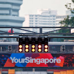 Starting lights of the Marina Bay circuit in Singapore