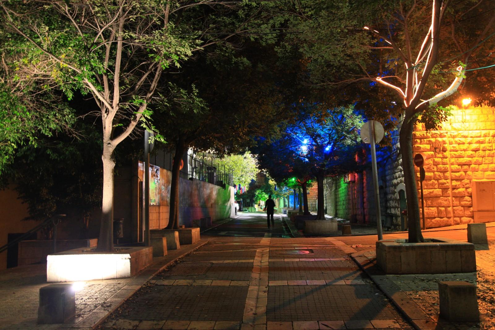 Empty side streets of Nazareth