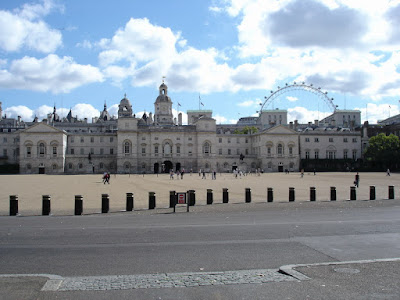 The Horse Guards with the London Eye in the background