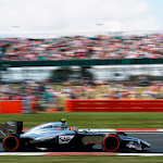 Kevin Magnussen on track in his McLaren MP4-29.