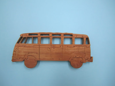 "1954 VW T1 Samba 3/4""  Cherry  Pattern by Eric Van Malderen Scrollsaw Woodworking and Crafts #64"