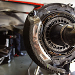 McLaren MP4-28 front axle and brake