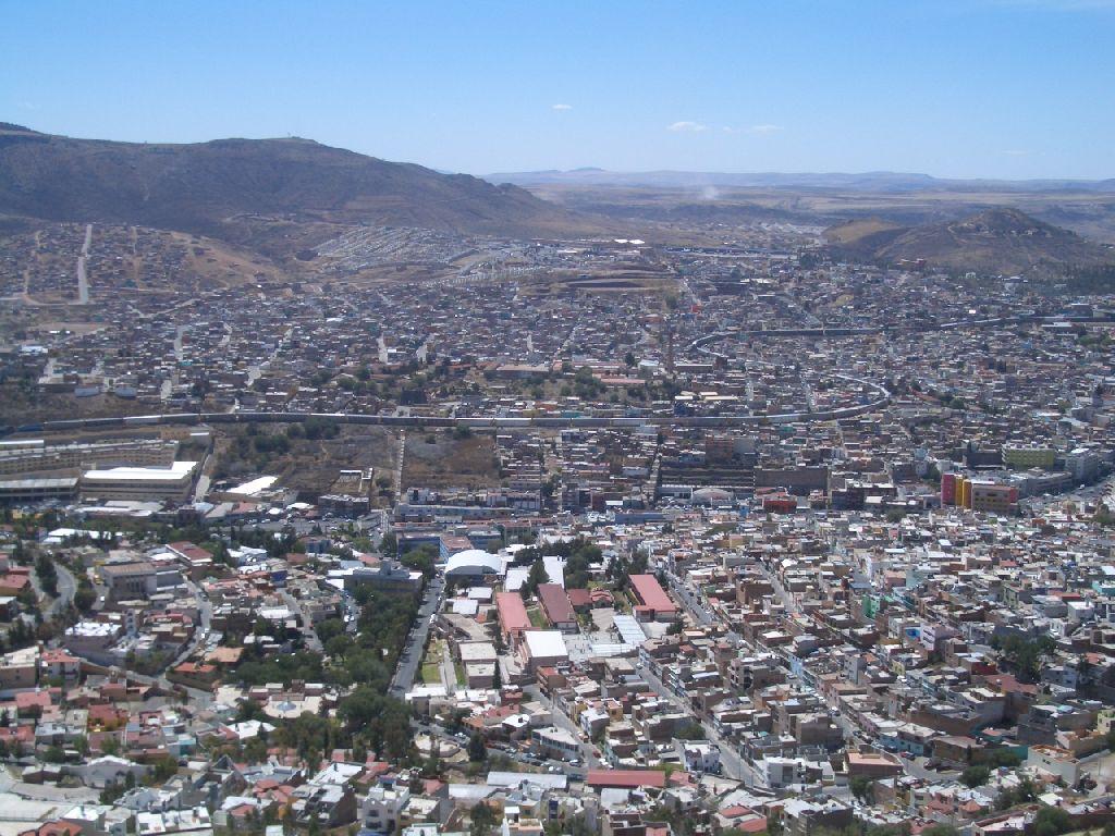 Zacatecas von oben