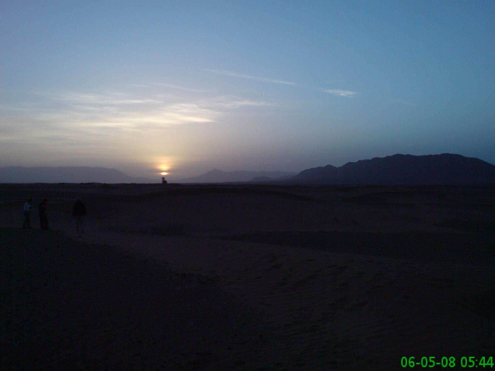 Sunrise over the desert