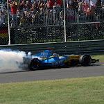 Fernando Alonso has engine failure at Monza