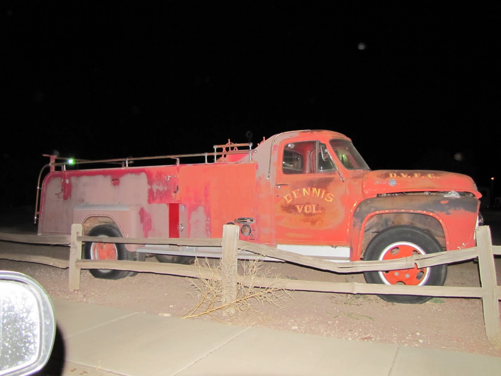 Fire-engine, Route 66, Arizona, 1953 Ford F600 Fire Engine