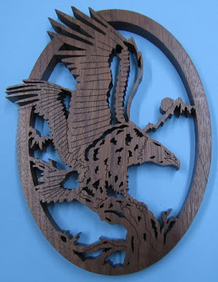 Bald Eagle by Bob Valle Creative Woodworks and Crafts June 2011 Black Walnut