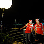 Ferrari Teammates Massa and Alonso Marina Bay Singapore