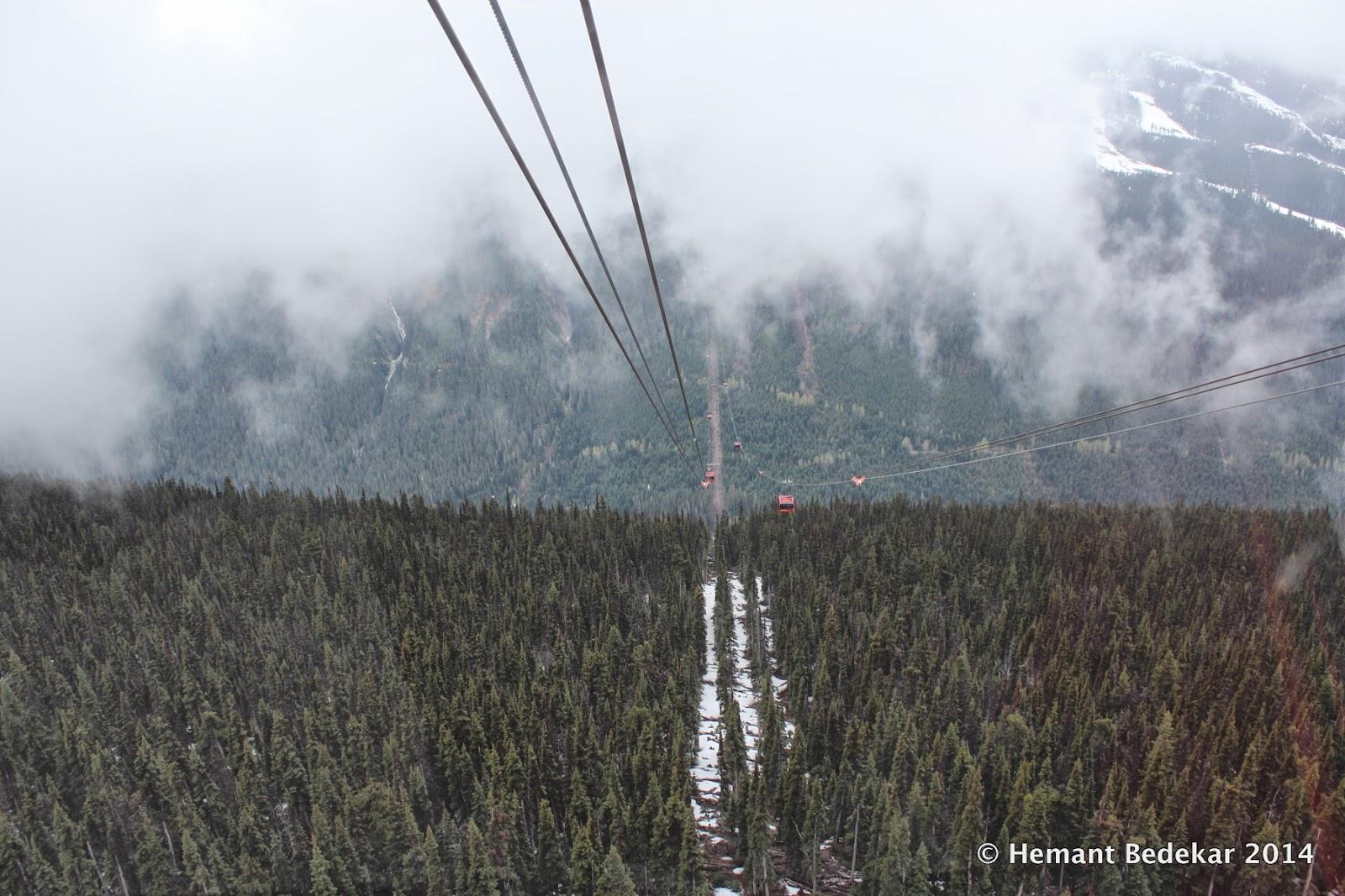 The Peak2Peak Gondola between Whistler and BlackComb mountains (https://en.wikipedia.org/wiki/Peak_2_Peak_Gondola)
