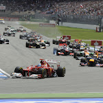 Start of the 2012 F1 GP of Germany