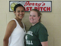 """Caitlyn Jackson (Pitcher) and Lisa Sanford (Catcher)   From Marshall University """"The Thundering Herd""""   2009 (Junior Year): Caitlyn Played and started in all 51 games as a junior, she started as the team"""