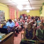 Takács András, a község díszpolgára a résztvevők között