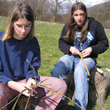 Pletení pomlázek (3)