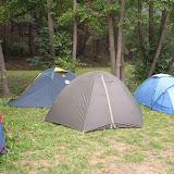 Starší - puťák: Po návratu do tábora jsme si naše stany znovu cvičně postavili :-)