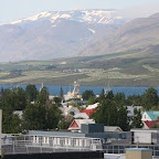 View from Akureyri across the fjord