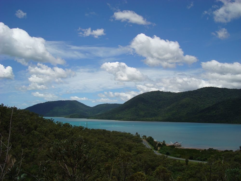 Shute harbour from halfway up up Mt Rooper