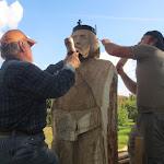 A kárpátaljai Halavács Béla és Árvai Attila együttes erővel készíti a nagy király szobrát