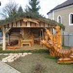 Betlehem Borsiban, faragott szobrokkal