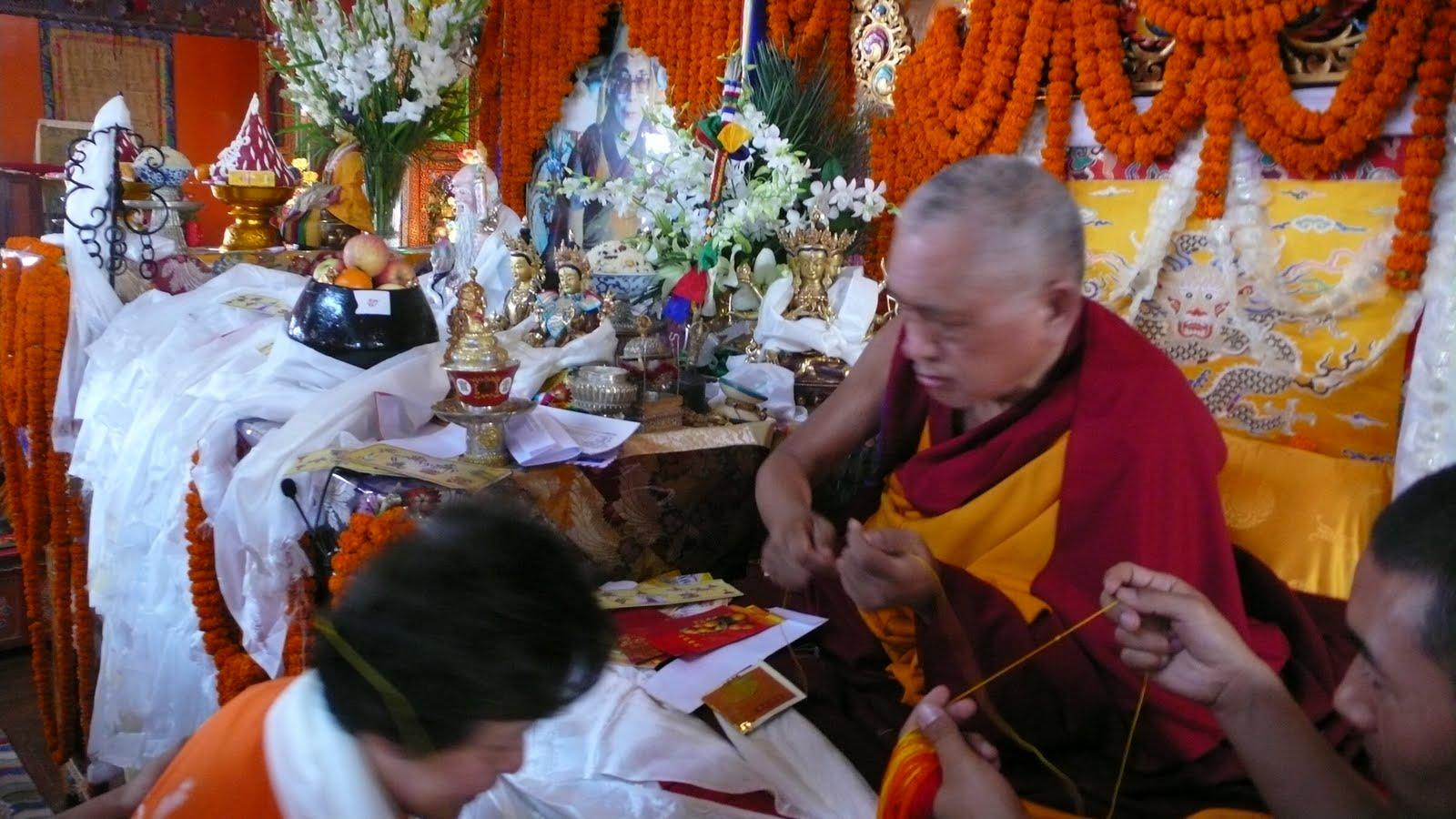 Long life puja, Kopan Monastery, Dec 2009.