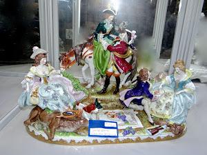"""Скульптурная композиция  """"Пикник"""" Германия ок.1900 г."""