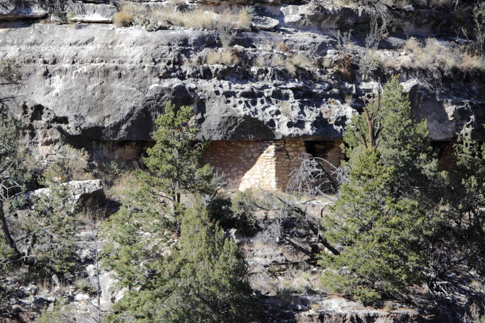 Sinagua cliff dwellings in Walnut Canyon