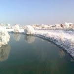 A Nyitra folyó partja Érsekújvárban