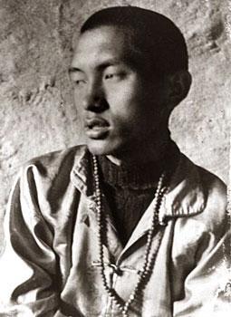 Rinpoche at Lawudo, circa 1970  Photo by Clive Arrowsmith