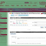 IN.gov- Indiana Standards and Resources- main search page