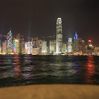 The craziest thing about Hong Kong - the daily 8pm symphony of lights is beginning