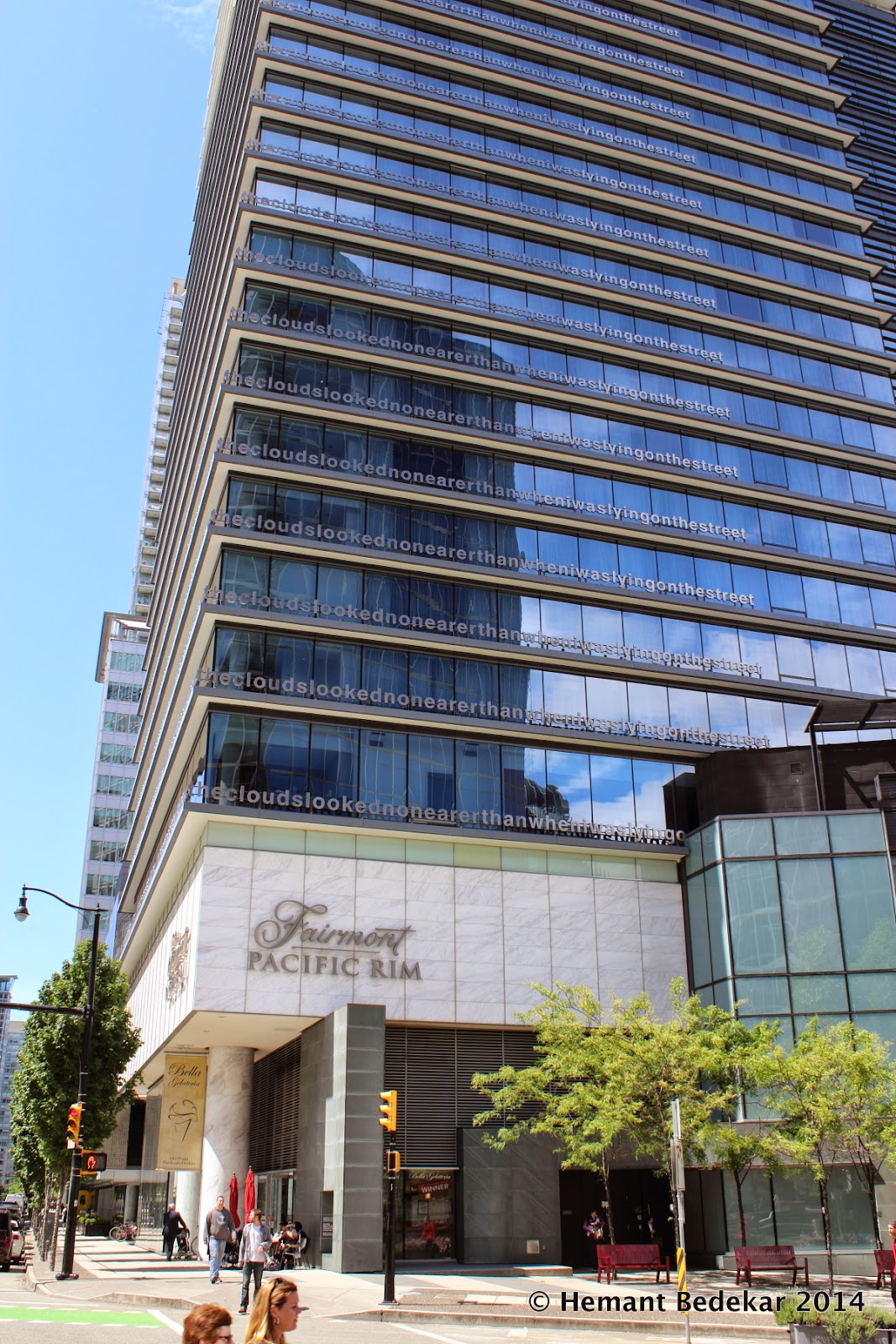 """""""Lying on top of a building… the clouds looked no nearer than when i was lying on the street"""" at the Fairmont Pacific Rim hotel"""