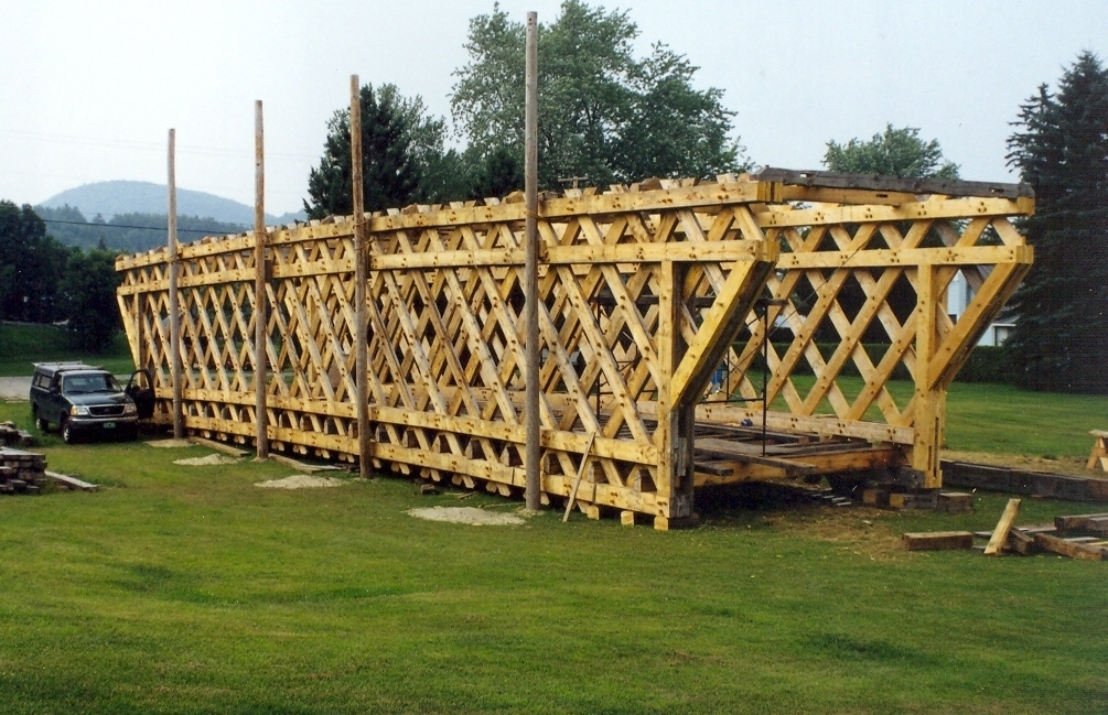 Towne Lattice truss spanning eighty feet.