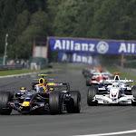 Mark Webber (AUS/ Red Bull Racing) and Nick Heidfeld (GER/ BMW Sauber)