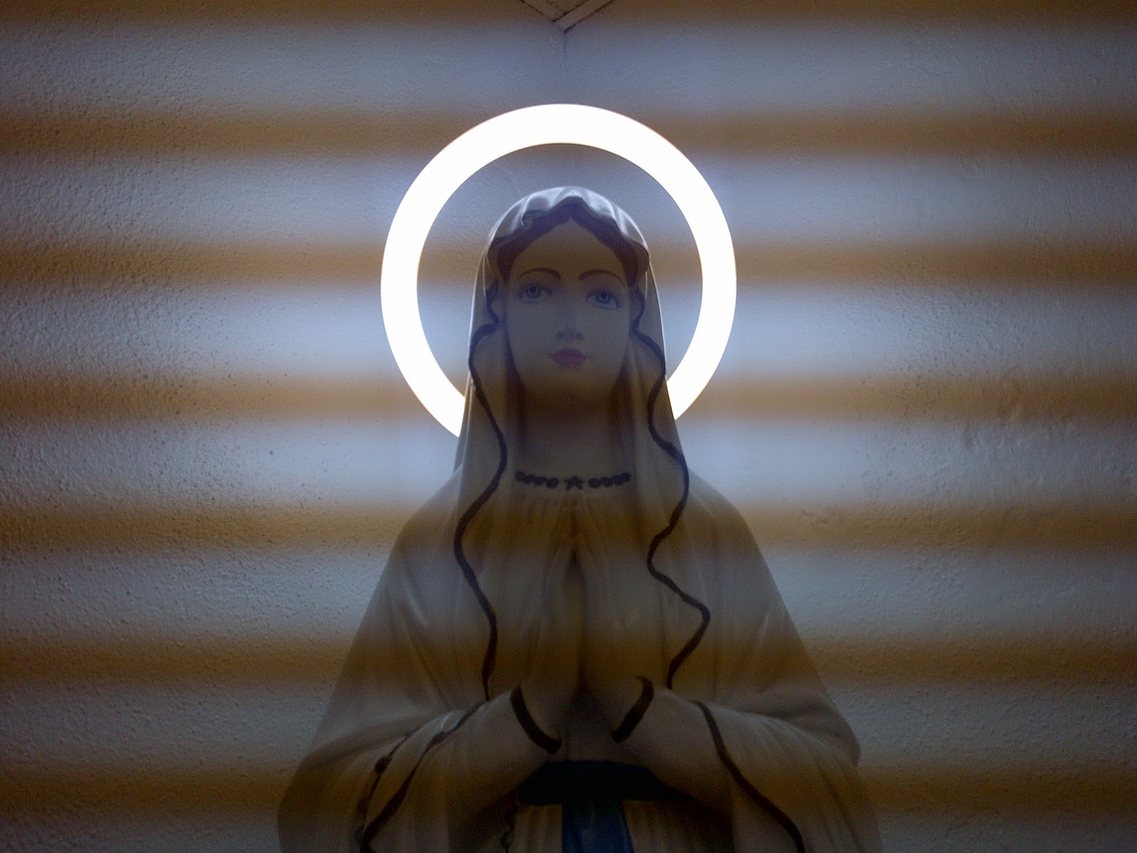 Weird and suspicious effect in photo of Maria in Lourdes