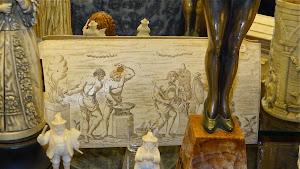 Антикварная картина из кости. ок.1750 г.