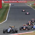Sergio Perez (MEX) Sahara Force India F1 VJM08.British Grand Prix, Sunday 5th July 2015. Silverstone, England.
