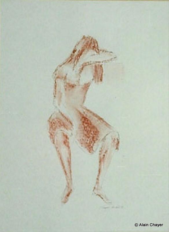 014 - La Pocharde - 1992 50 x 60 - Sanguine