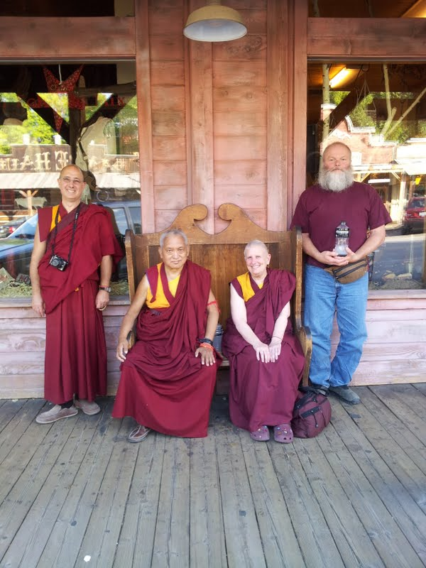 Ven.Kunsang, Rinpoche, Ven.Wongmo and Harry