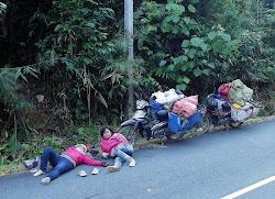 One samo čekaju momke koji su malo zašli u džunglu, ne znam kojim razlogom