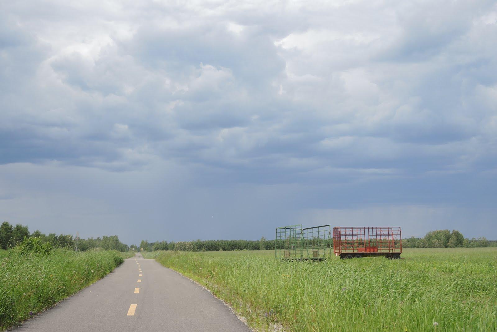 Ciel menaçant, finalement pas de pluie
