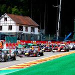 Start of the 2014 Belgian F1 GP after 1st corner