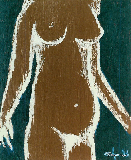044b - Petite Maman - 1993 46 x 38 - Acrylique sur toile