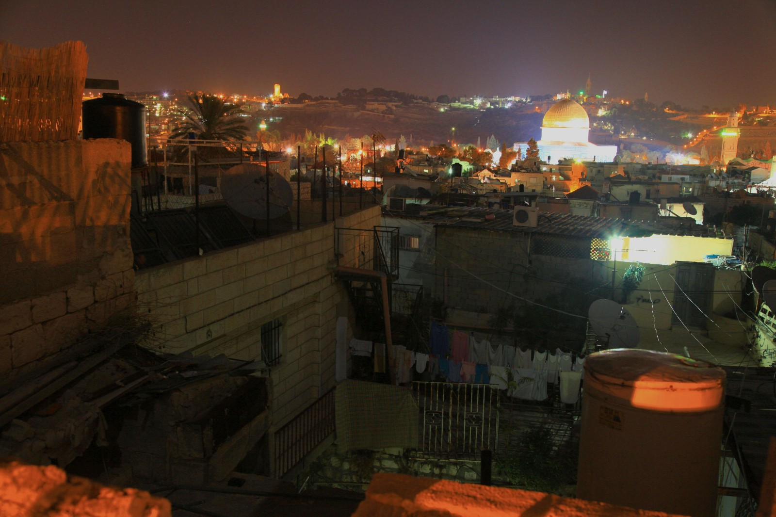 The Dome of The Rock from the roofs of Jerusalem