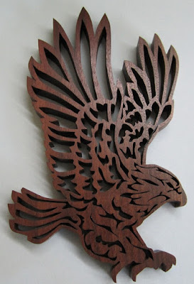 Eagle in Flight by Jacob Fowler  BLACK WALNUT