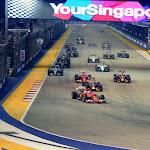 2015 Singapore GP start driving in 1st corner